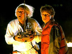 Perhaps we haven't quite mastered time travel like Doc and Marty, but we can send emails into the future (courtesy of sean022.blogspot.com)